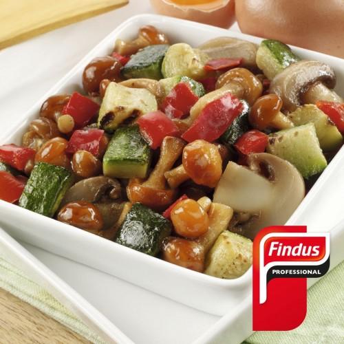 Revuelto de verduras y setas 1kg Findus