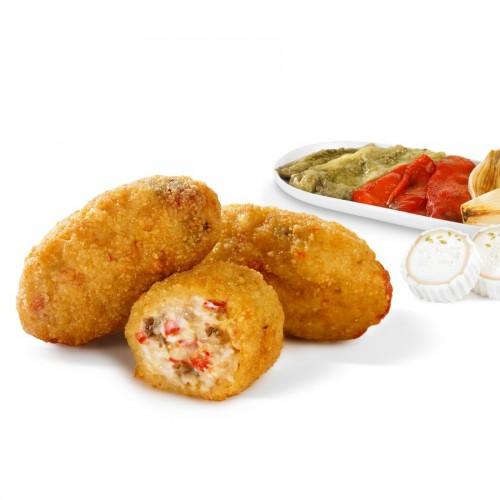Croquetas de verduras asadas y queso de cabra Mesón 500g Prielá